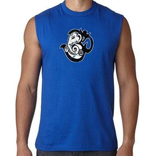 Mens OM Mashup Sleeveless Muscle Tee Shirt - Yoga Clothing for You - 1