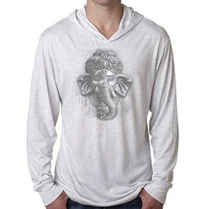 Mens 3D Ganesh Thin Hoodie Tee Shirt - Yoga Clothing for You - 1