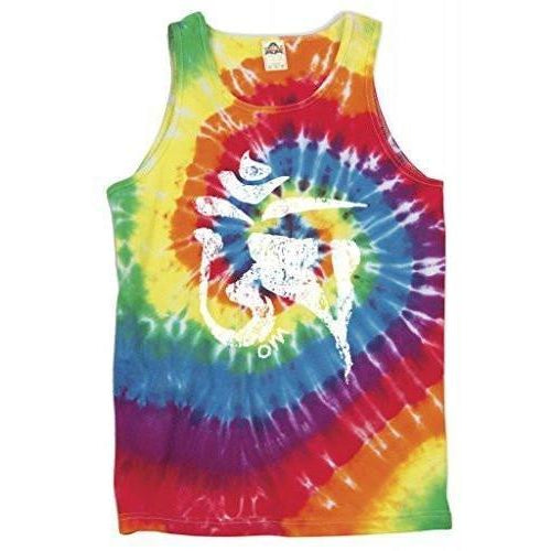Yoga Clothing for You Mens Tibet OM Symbol Tie Dye Tank Top