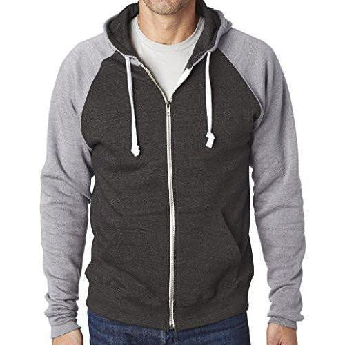 Yoga Clothing for You Mens Color Contrast Zip Hoodie