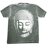 Mens Acid Wash Tee Shirt - Big Buddha Head - Yoga Clothing for You - 2