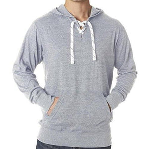 Mens Lace Hoodie Tee Shirt - Yoga Clothing for You - 3
