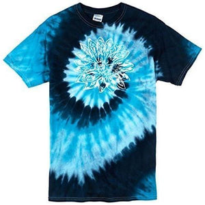 Mens Sketch Lotus Tie Dye Tee - Yoga Clothing for You - 3