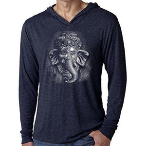Mens 3D Ganesh Thin Hoodie Tee Shirt - Yoga Clothing for You - 4