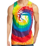 Mens White Tibet Om Tie Dye Tank Top - Yoga Clothing for You - 6