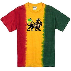 Mens Rasta Print Tie Dye T-Shirt - Yoga Clothing for You