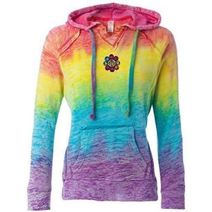 Womenas Love Patch Burnout V Hoodie - Middle Print - Yoga Clothing for You - 2