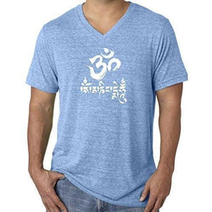 Mens Om Mani Padme Hum V-neck Tee - Yoga Clothing for You - 3