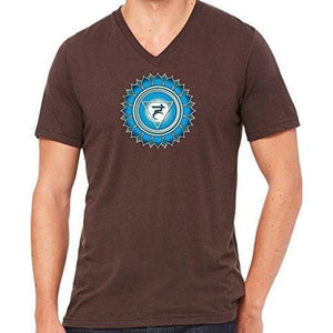 "Mens ""Vishuddha Chakra"" V-neck Tee Shirt - Yoga Clothing for You - 5"