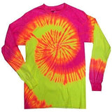 Mens Tie Dye Long Sleeve Tee Shirt - Yoga Clothing for You - 3