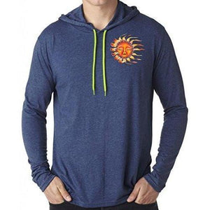Mens Sleeping Sun Hoodie Tee Shirt - Pocket Print - Yoga Clothing for You - 3