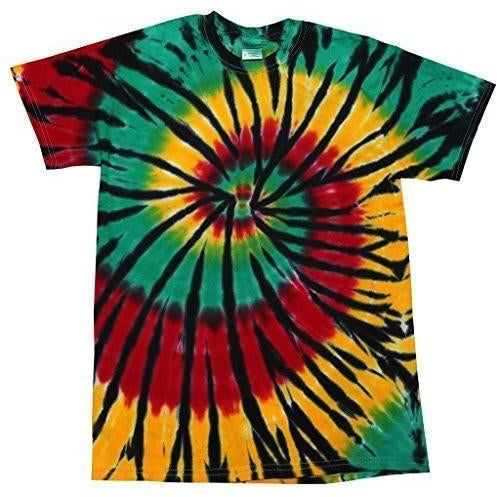 Mens Rasta Web Tie Dye Tee Shirt - Yoga Clothing for You