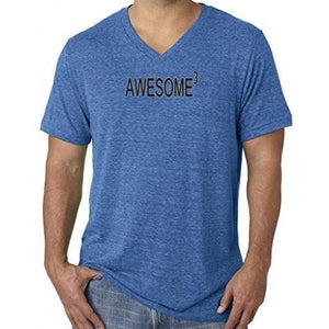 Mens Awesome Cubed V-neck Tee Shirt - Yoga Clothing for You - 9