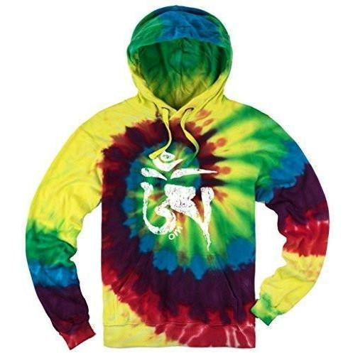 Mens Tie Dye Tibet Om Hoodie - Yoga Clothing for You