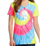 Womens Little Buddha Tie Dye V-neck Tee Shirt - Yoga Clothing for You - 4
