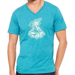 "Mens ""Krishna"" V-neck Tee Shirt - Yoga Clothing for You - 1"