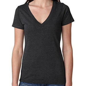 Womens Lightweight Deep V-neck Tee Shirt - Yoga Clothing for You - 2