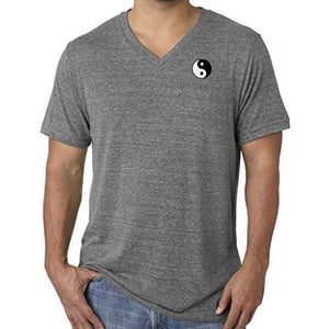 Mens Yin Yang Patch V-neck Tee Shirt - Pocket Print - Yoga Clothing for You - 9
