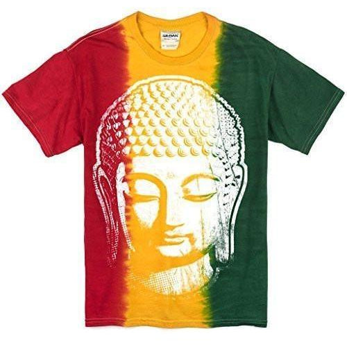 Mens Big Buddha Head Tee Shirt - Yoga Clothing for You