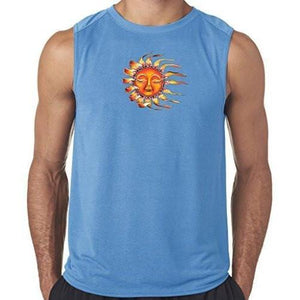 "Mens ""Sleeping Sun"" Muscle Tee Shirt - Yoga Clothing for You"