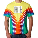 "Mens ""Breathe"" V-Dye Tee Shirt - Yoga Clothing for You - 2"