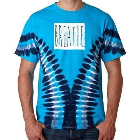 "Mens ""Breathe"" V-Dye Tee Shirt - Yoga Clothing for You"
