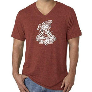 "Mens ""Krishna"" V-neck Tee Shirt - Yoga Clothing for You - 7"