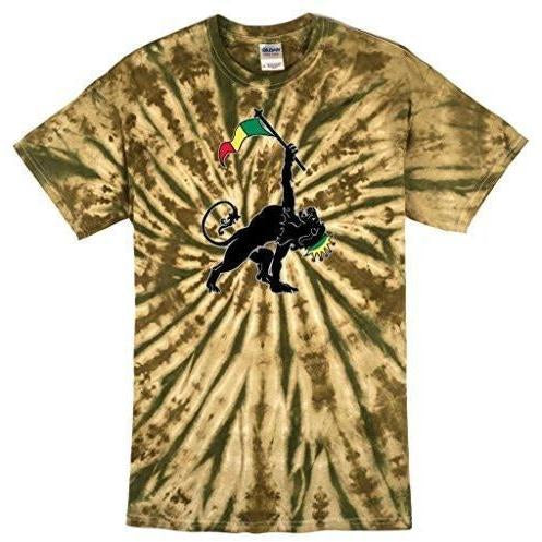 Mens Rasta Triangle Camo Tie Dye Tee Shirt - Yoga Clothing for You