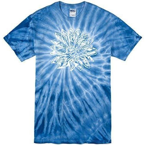 Mens Sketch Lotus Tie Dye Tee - Yoga Clothing for You - 1