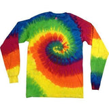 Mens Tie Dye Long Sleeve Tee Shirt - Yoga Clothing for You - 4