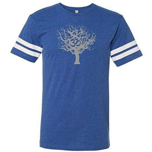 Mens Tree of Life Striped Tee Shirt - Yoga Clothing for You - 2
