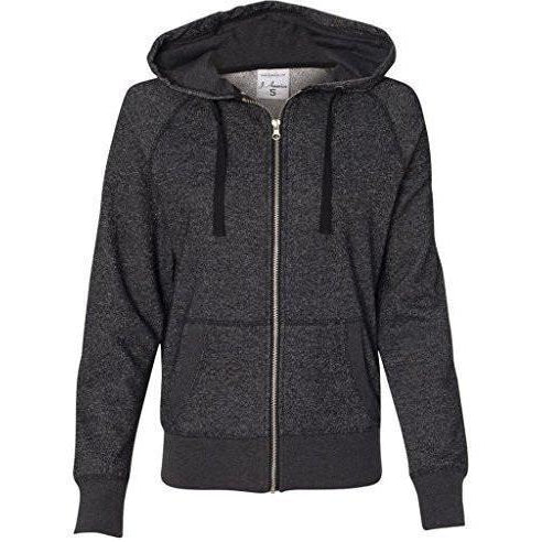 Womens Full-Zip Glitter Hoodie - Yoga Clothing for You - 1