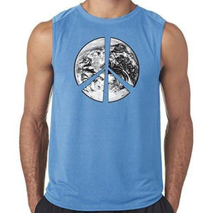 "Mens ""Peace Earth"" Muscle Tee Shirt - Yoga Clothing for You - 2"
