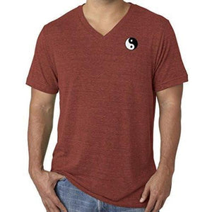 Mens Yin Yang Patch V-neck Tee Shirt - Pocket Print - Yoga Clothing for You - 7