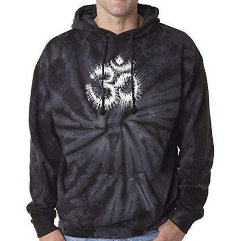 Yoga Clothing for You Mens Tie Dye Om Symbol Hoodie