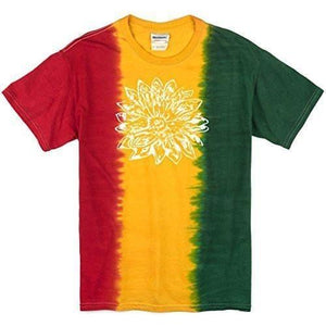 Mens Sketch Lotus Tie Dye Tee - Yoga Clothing for You - 5
