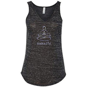 "Womens ""Namaste Lotus"" Flowy Yoga Tank Top - Yoga Clothing for You - 2"