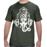 Mens Big Ganesha Organic Tee Shirt - Yoga Clothing for You - 4