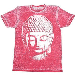 Mens Acid Wash Tee Shirt - Big Buddha Head - Yoga Clothing for You - 3