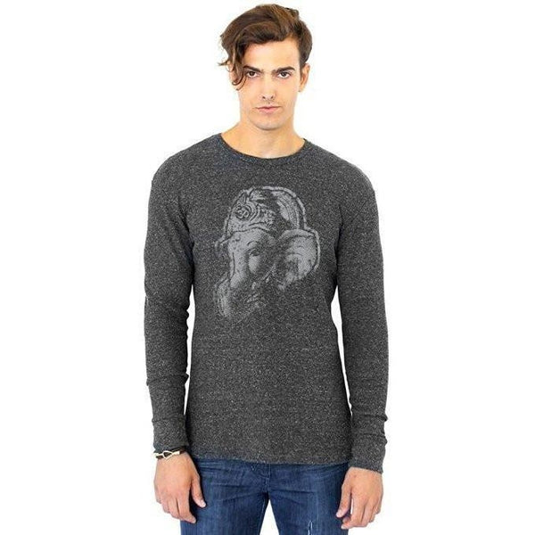 Yoga Clothing for You Men's Ganesha Profile Eco Thermal Tee Shirt