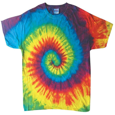 Yoga Clothing for You 100% Cotton Colorful Tie Dye Vibrant Shirt - Reactive Rainbow - Yoga Clothing for You