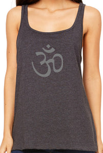 Womens Relaxed Fit AUM Om Tank Top