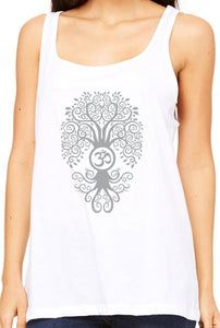 Womens Relaxed Fit Bodhi Tree Tank Top