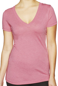 Womens Lightweight Deep V-neck Tee Shirt