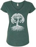 Yoga Clothing For You Women's Celtic Tree of Life V-neck Tee