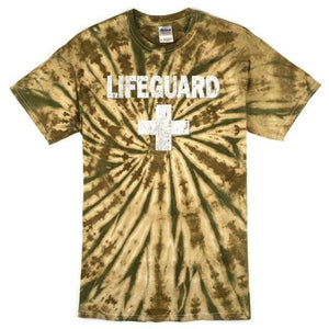 Mens Camo Lifeguard Tee Shirt - Yoga Clothing for You