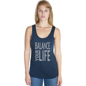 Women's Bamboo Organic Yoga Tank - Balance Your Life - Yoga Clothing for You - 1