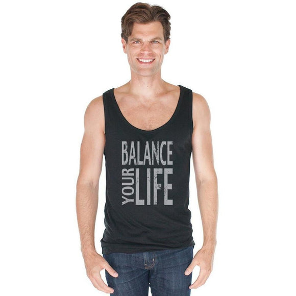 Men's Balance Bamboo Organic Yoga Tank Top - Yoga Clothing for You - 1
