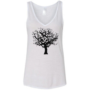 Ladies Tree of Life Flowy V-Neck Yoga Tank Top - Yoga Clothing for You - 6