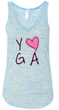 Womens Love Yoga Flowy Tanktop
